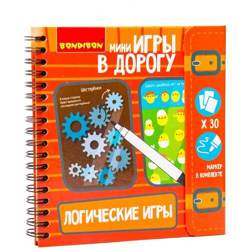 Купить Логические игры, Bondibon (набор игр с карточками, ВВ1956, серия Мини игры в дорогу), Настольные игры
