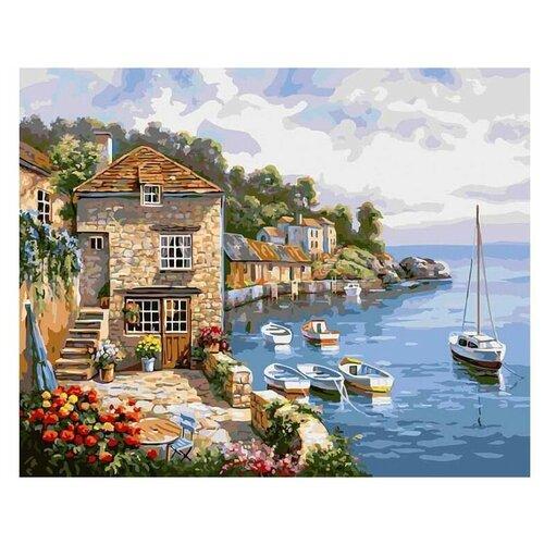 Купить Картина по номерам Солнечная бухта, 40x50 см. Белоснежка, Картины по номерам и контурам