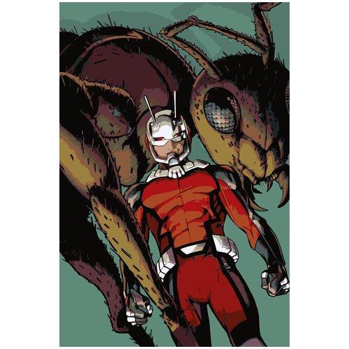 Картина по номерам Человек-Муравей Комикс, 80 х 120 см