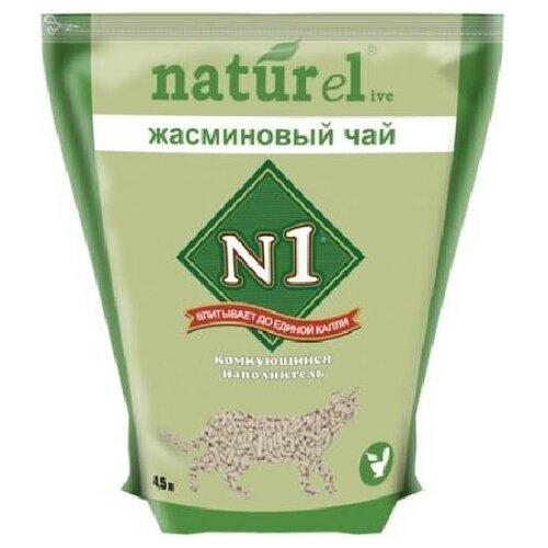 N1 комкующийся наполнитель naturel жасминовый чай на 4,5л, 1,810 кг (2 шт)