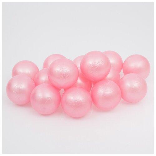 Шарики для сухого бассейна Соломон 500 шт, цвет розовый перламутр