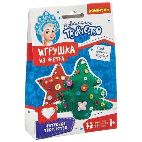 BONDIBON Набор для шитья елочной игрушки Звездочка и Ёлочка (ВВ3091) недорого