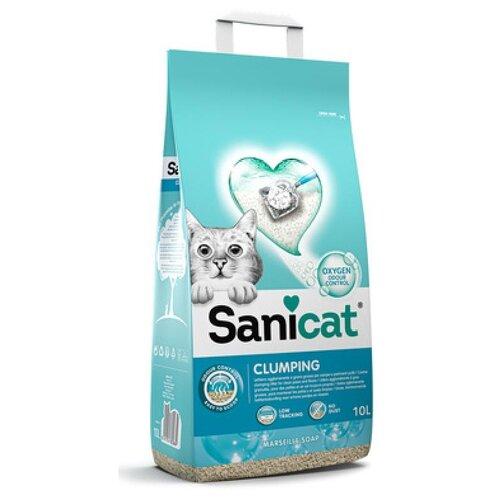 Sani cat усовершенствованный комкующийся антибактериальный наполнитель с активным кислородом и ароматом марсельского мыла , 8,400 кг