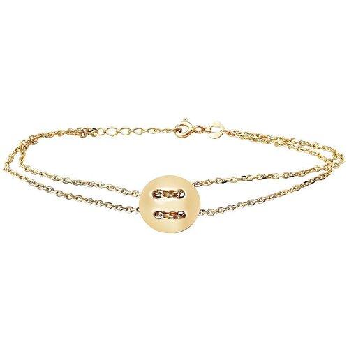 Эстет Браслет из жёлтого золота 01Б032582, 17 см, 4 г браслет унакит биж сплав 4 мм 17 см 3 см