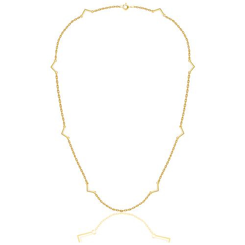 Бронницкий Ювелир Колье из желтого золота 54310096, 40 см, 3.26 г