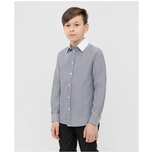 Рубашка Button Blue размер 158, серый