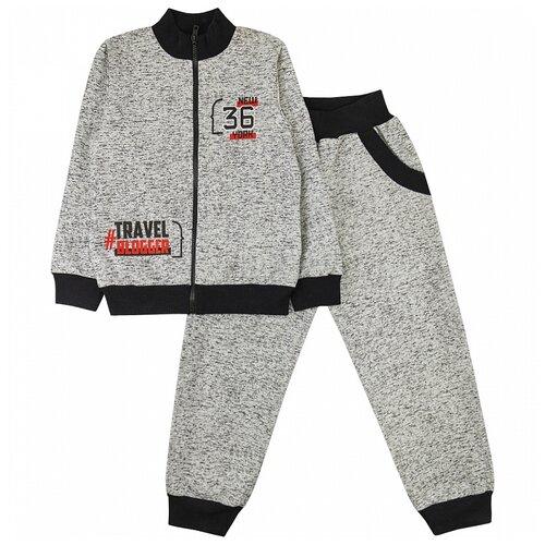 Спортивный костюм Юлала размер 104-110(60), серый меланж
