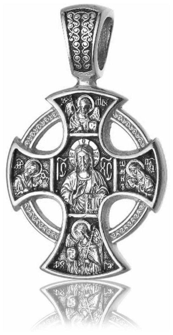 TOP CRYSTAL Крест нательный с изображением Святых, серебряный 11012010 — купить по выгодной цене на Яндекс.Маркете