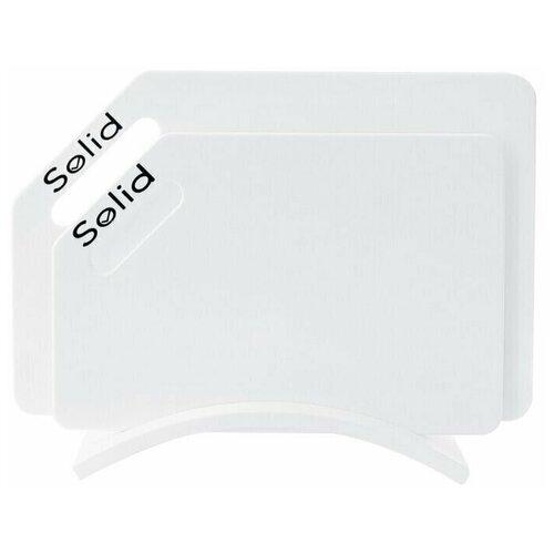 Разделочные доски Solid набор Белый стандарт набор 4 гибкие разделочные доски stoneline
