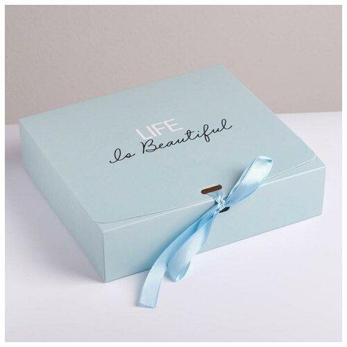 Фото - Коробка складная подарочная Поздравляю, 20 х 18 х 5 см подарочная коробка дарите счастье 3122698 складная коробка с днем рождения