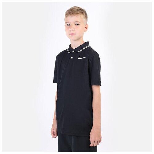 Фото - Поло NIKE размер M(137-147), черный nike толстовка для мальчиков nike sportswear размер 137 147