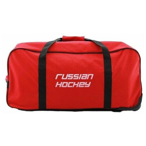 Баул хоккейный, сумка спортивная на колесах BITEX 24-201 красный/черный