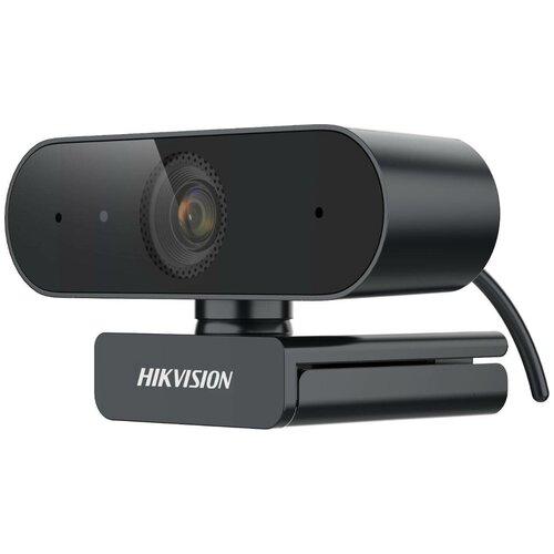 Камера Web Hikvision DS-U02 черный, 2Mpix (1920x1080) USB2.0, с микрофоном