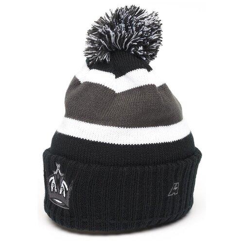 Шапка Atributika & Club NHL Los Angeles Kings 59206 размер 55-58, черный/серый/белый