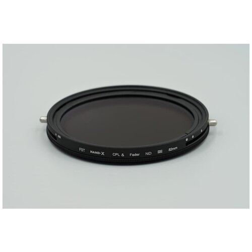 Фото - Нейтральный фильтр переменной плотности + поляризационный фильтр FST 82mm Nano-X CPL + Vari-ND 2-32 поляризационный фильтр fst 77mm nano x cpl