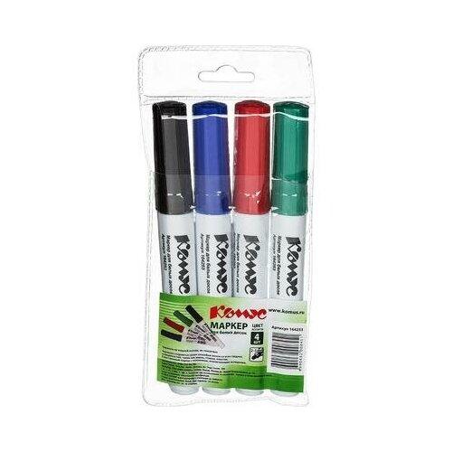 Набор маркеров для досок Комус BY2304 4 цвета (толщина линии 2-5 мм) 1 шт., Маркеры  - купить со скидкой