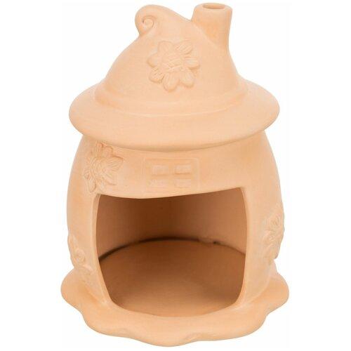 Домик для мышей, керамика, ф 11 х 14 см, терракотовый, Trixie (товары для животных, 61372)