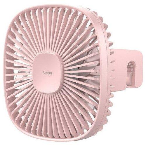Автомобильный вентилятор на подголовник Baseus Natural Wind Magnetic Rear Seat Fan - Розовый (CXZR-04)