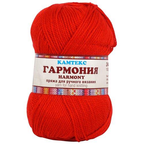 Пряжа Камтекс 'Гармония' 100гр. 245м. (50%шерсть,50%акрил) (046 красный) 5 шт недорого