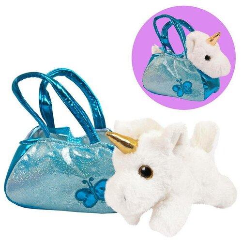Купить Мягкая игрушка ABtoys серия Животные в сумочках Единорог, 16 см (M2128), Мягкие игрушки