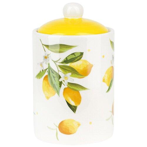 Банка для сыпучих продуктов Лимоны, 750 мл., Dolomite, 2520858 банка для сыпучих продуктов феникс презент чаепитие 750 мл