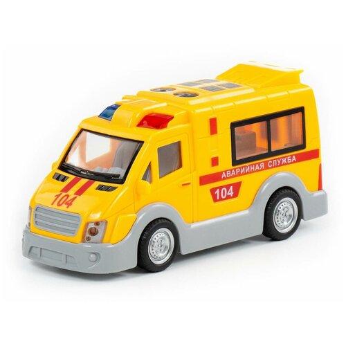 Купить Аварийная служба , автомобиль инерционный (со светом и звуком) (в коробке), Полесье, Машинки и техника
