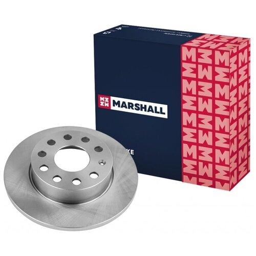 Тормозной диск задний MARSHALL M2000520 для Audi A3 (8P) 03-; Skoda Octavia II (A5) 04-; Skoda Superb II 08-; VW Caddy III 04-; VW Golf V, VI 03-; VW Jetta V 05- // кросс-номер TRW DF4271 // OEM 1K0615601AC; 1K0615601L; 1K0615601AJ; 8P0098601N