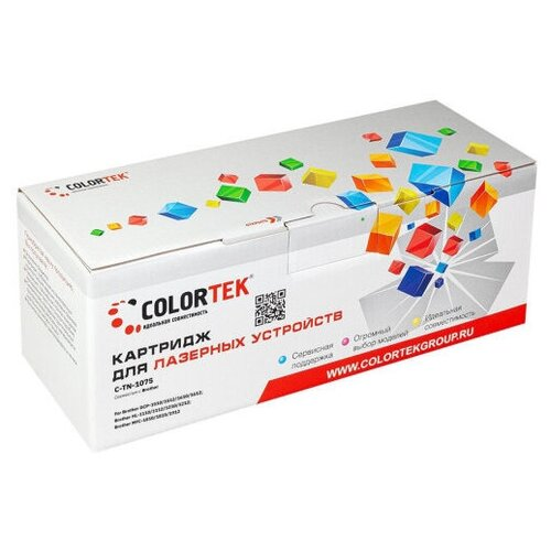 Картридж Colortek (схожий с Brother TN-1075) для Brother DCP-1510/1512/1610/1612 </div> <div class=