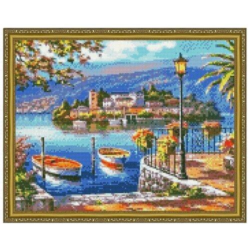 Алмазная мозаика Paintboy Городской причал 40х50 см