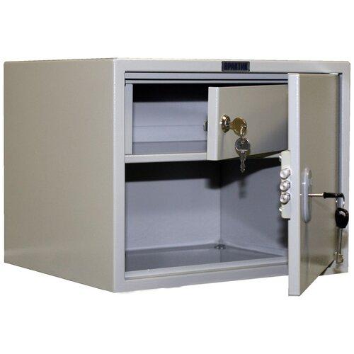Шкаф бухгалтерский ПРАКТИК SL-32Т 42x35x32 см графит (RAL 7024)/светло серый (RAL 7038)