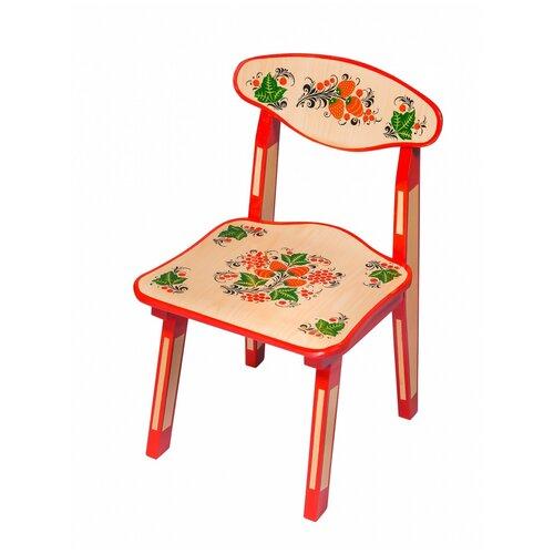 Купить Детский стульчик Хохлома с художественной росписью Ягода/цветок рост 1, Хохломская роспись, Стулья и табуреты