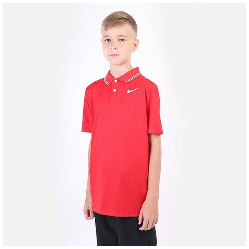 Фото - Поло NIKE размер M(137-147), красный nike толстовка для мальчиков nike sportswear размер 137 147