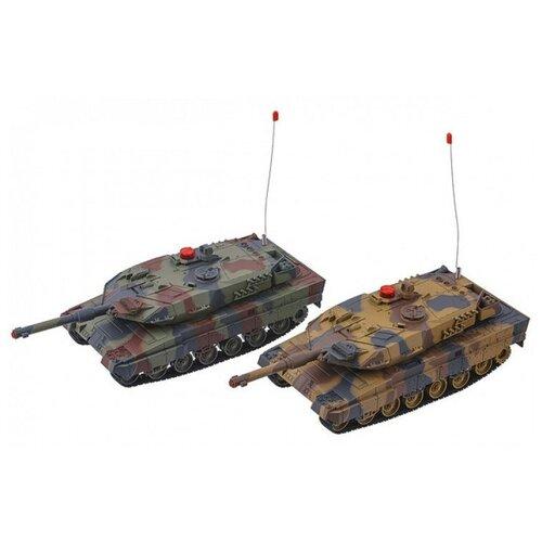 Радиоуправляемый танковый бой 2.4G Abrams vs Abrams масштаб 1:24 Huan QI 558(2.4G)