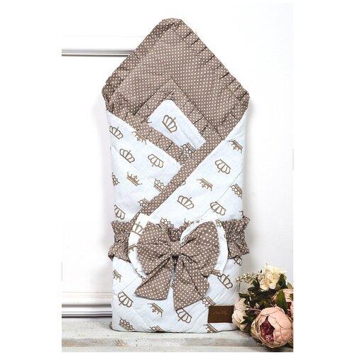 Купить Конверт-одеяло Amarobaby Happy Royal 93 см коричневый, Конверты и спальные мешки