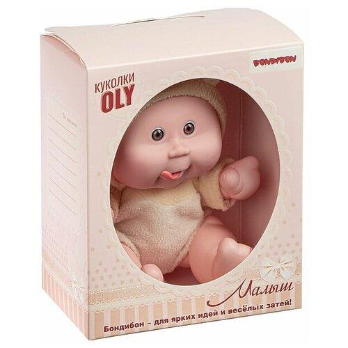 Фото - Кукла малыш Oly толстощёкий с улыбкой, Bondibon, размер 8, жёлт. костюм, ВОХ 17,8х14,5х10,3 см, арт мягкие игрушки bondibon кукла oly ника 26 см