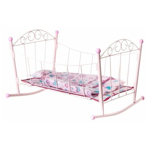 Кроватка для кукол Yako toys металлическая