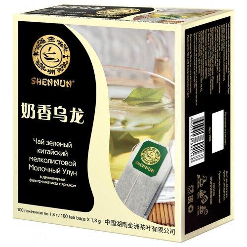 Чай Shennun Молочный Улун зеленый, 100пак. 1902 2 шт.
