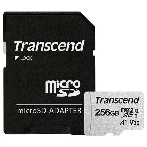 Фото - Карта памяти 256Gb - Transcend 300S Micro Secure Digital XC Class 10 UHS-I TS256GUSD300S-A с переходником под SD (Оригинальная!) карта памяти 512gb transcend 300s secure digital xc class