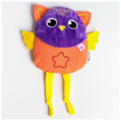 Крошка Я Развивающая игрушка - грелка с вишнёвыми косточками «Совушка»