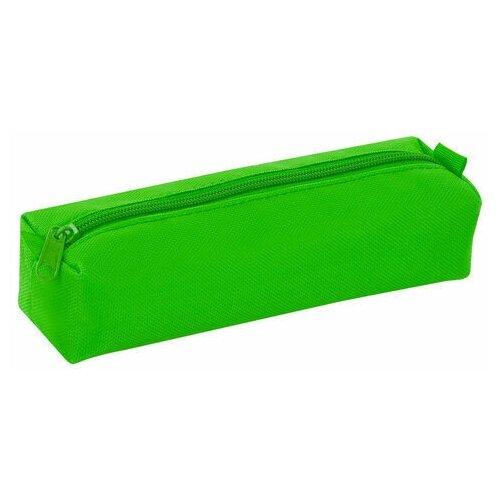 Купить Пенал-тубус пифагор на молнии, текстиль, зеленый, 20х5 см, 104389, Пифагор, Пеналы
