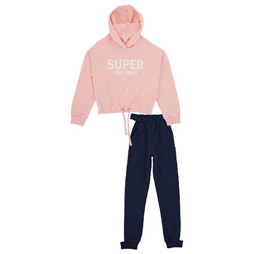 Спортивный костюм Mini Maxi размер 128, кремовый/розовый