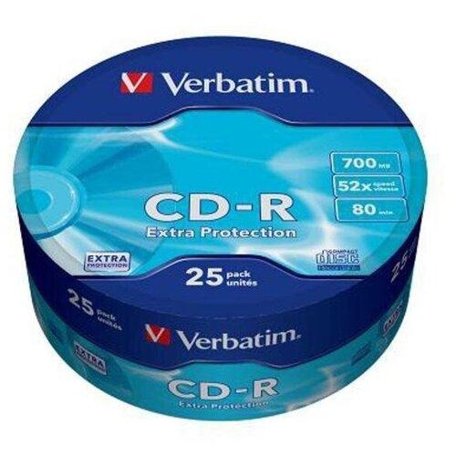 Диск CD-R Verbatim 700 Mb, 52x, Shrink (25), DL (25/300)