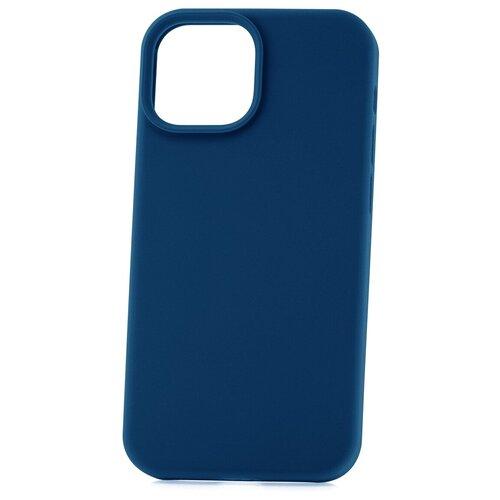 Чехол для Apple iPhone 13 mini Derbi Soft Plastic-3 темно-синий / чехол на айфон / противоударный чехол на айфон / однотонный чехол / чехол с защитой углов / чехол для Эпл Айфон / бампер на айфон / защитный чехол для iPhone / бампер для iPhone / софт тач чехол / бархатный чехол на айфон / чехол с высоким бортиком для iPhone / чехол с защитой камеры на айфон / силиконовый чехол / пластиковый бампер / защита для айфон 13 мини / iphone 13 mini