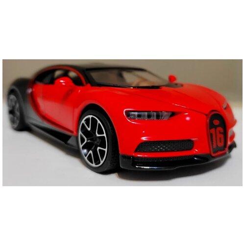 Купить Машинка Bugatti Chiron Бугатти Широн металлическая красная 1:32, MINIAUTO, Машинки и техника