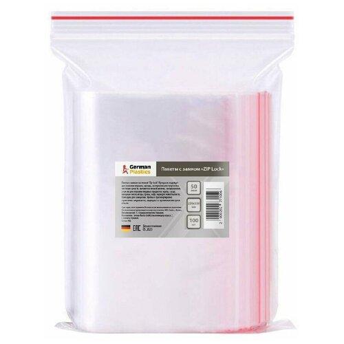 Пакеты Zip Lock 25х35 см, 100 шт. Упаковочные Зип Лок пакеты с замком для заморозки и хранения продуктов, фасовочные, пищевые, прозрачные, полиэтиленовые с застежкой