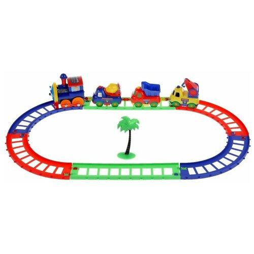 Фото - Железная дорога Играем вместе Персонажи. Синий трактор 11 предметов железные дороги играем вместе железная дорога 308 см