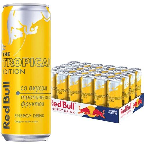 Энергетический напиток Red Bull тропические фрукты, 0.355 л, 24 шт.