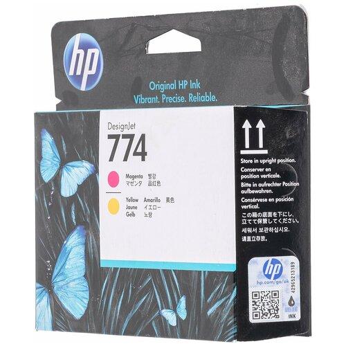 Фото - Картридж струйный HP 774 P2V99A пурпурный/желтый (775мл) для HP DJ Z68 10 картридж струйный hp 771c b6y09a пурпурный 130мл для hp dj z6200