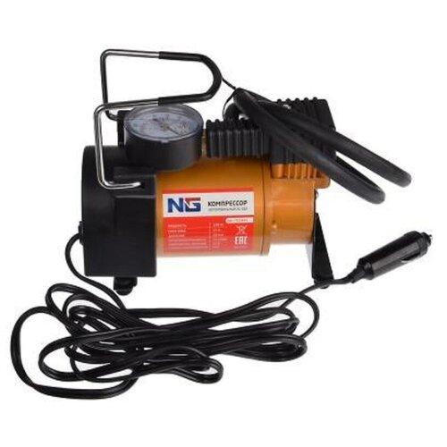 Автомобильный компрессор NEW GALAXY АС-580 оранжевый/черный
