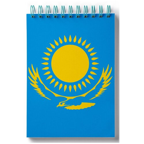 Блокнот для зарисовок, скетчбук Флаг Казахстана